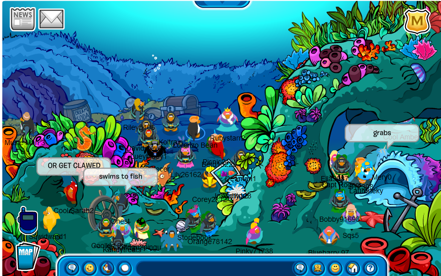 Underwater Room Club Penguin