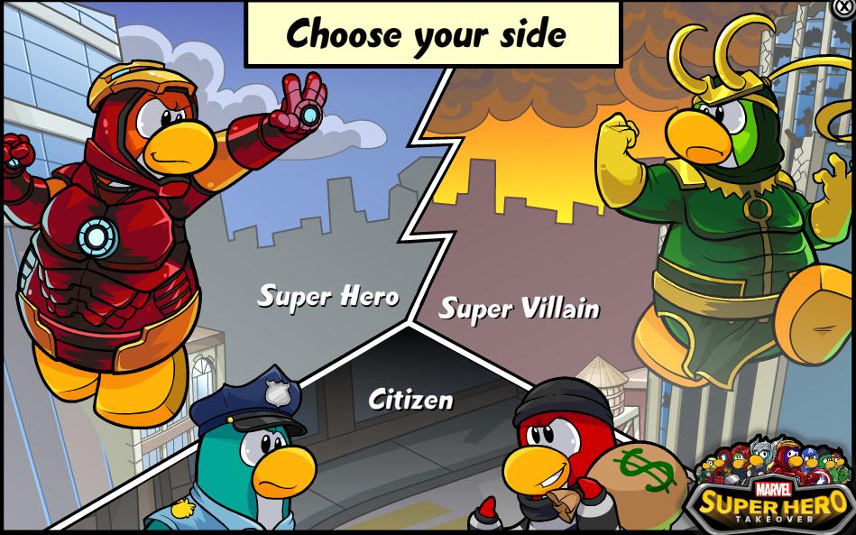 club penguin superhero party cheats   LBX Club Penguin