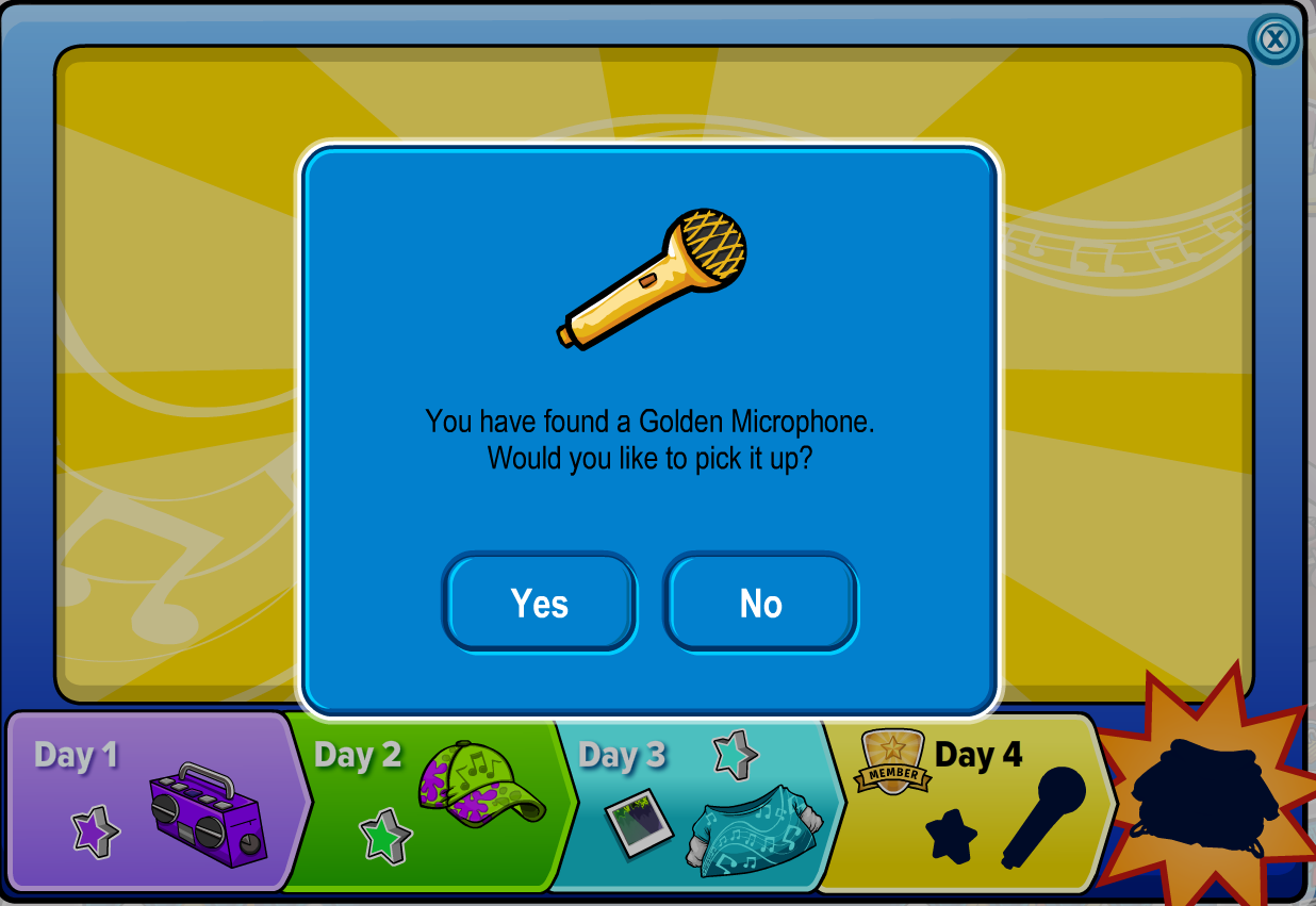 Club Penguin today to collect the Ultimate Jam Day 4 Free Item: The